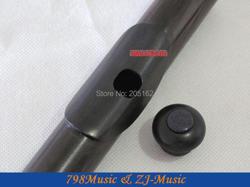 Flauta de granadilla africana Blackwood profesional-Pie B-Agujero - Instrumentos musicales - foto 2