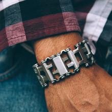 Мужская Мода EDC Нержавеющая сталь браслет Открытый Инструмент Браслеты