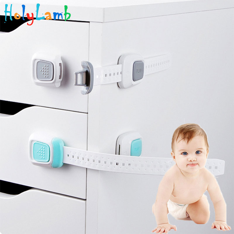 1Pcs Multifunction Double Button Child Lock Protection Of Children Locking Doors Toilet Drawer For Children's Safety Kids Safety