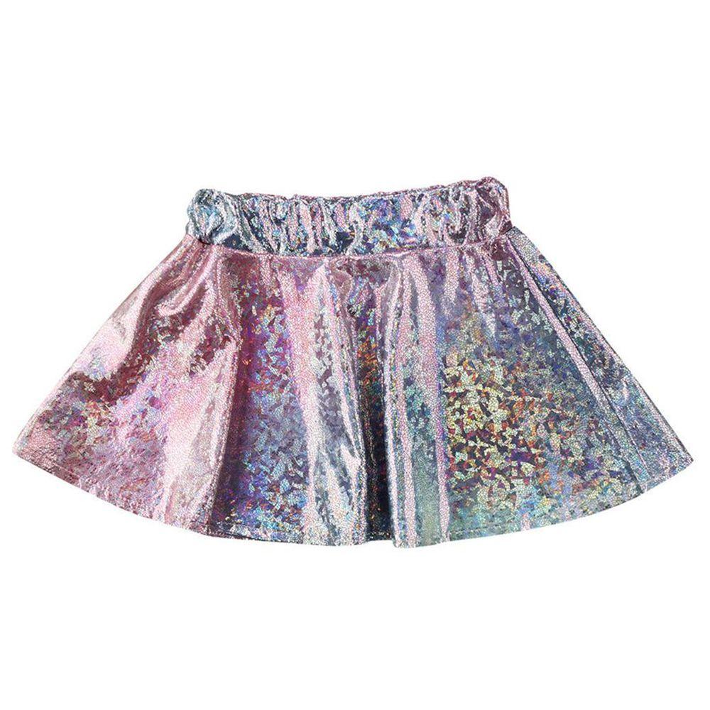 1-5 Jahre Baby Mädchen Farbverlauf Shiny Halbkörper Kurzen Rock Kinder Perfekte Party Rock Kleidung Mädchen Mode Bling Röcke