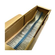 100PCS DIY Metal film resistor 1/4W series 1R~2.2M 1% resistance 10K 22K 47K 100K 10 220 1K5 100R 220R 1K 1.5K 2.2K 4.7K 4K7 ohm