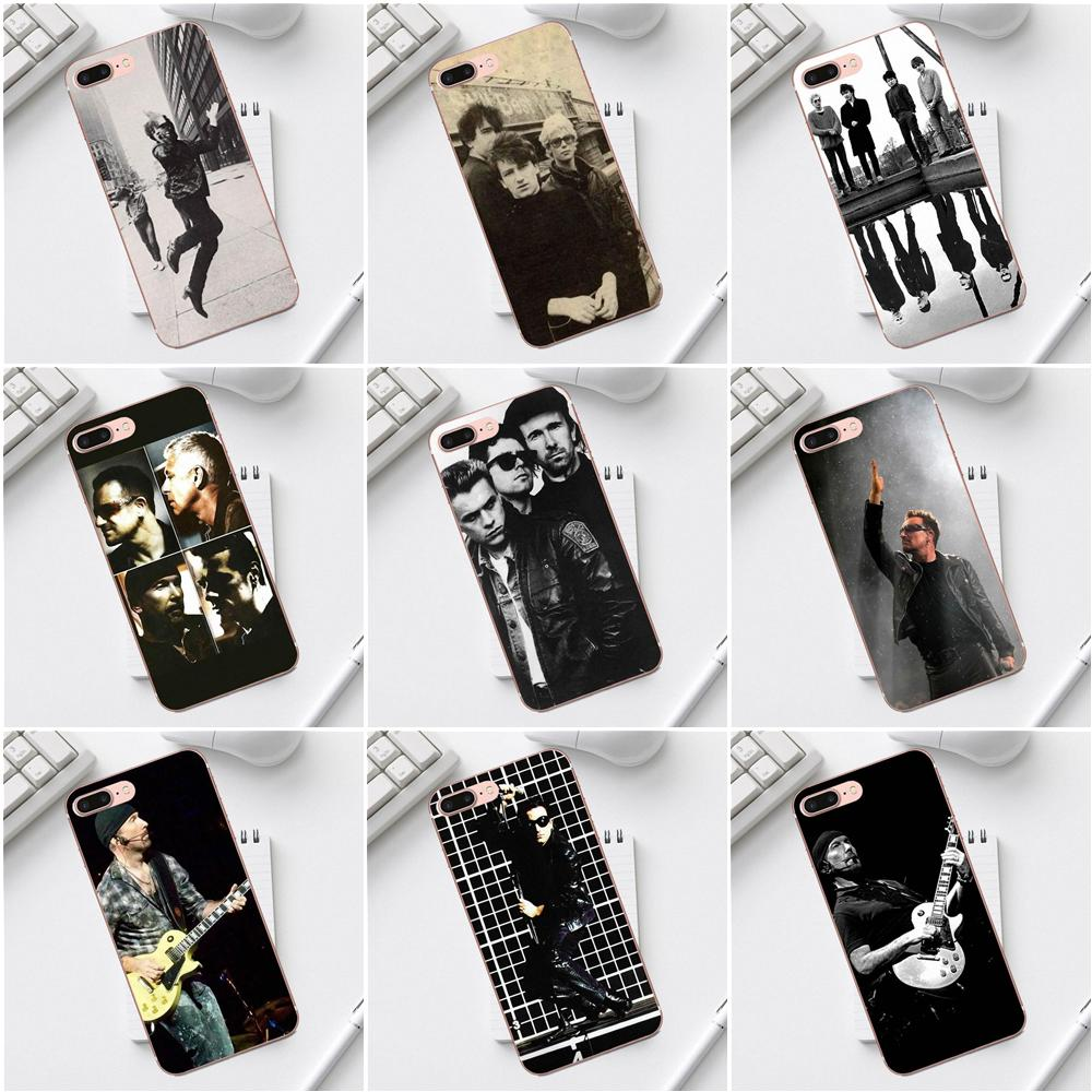 Qdowpz U2 Rock Band For Galaxy Alpha Core Prime Note 4 5 8 S3 S4 S5 S6 S7 S8 S9 mini edge Plus TPU Fashion Case image