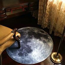 New 3 D Antiskid Resistance Dirty Door Balcony Moon Round Carpet Personality Nostalgic Computer Chair Rug