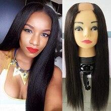 SimBeauty 100% Unprocessed Brazilian Remy Straight U Part Wigs For Women 100%