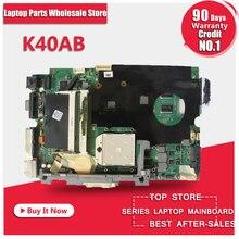 Großhandel K40AB laptop motherboard für Asus K40AB K40AD K40AF K50AB K50AD K50AF Mainboard DDR2 Mainboard Voll Getestet