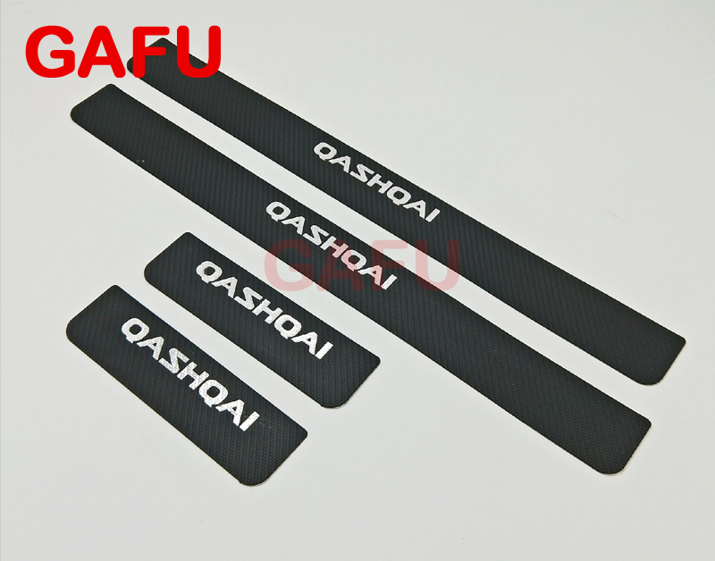 For Nissan Qashqai J11 2017 2016 2015 Door Sill Scuff Plate Guards Door Sills Strip Protector Stickers Car Accessories 2pcs set accessories fit for 2015 2016 2017 nissan qashqai j11 rear bumper protector cargo boot sill plate trunk lip
