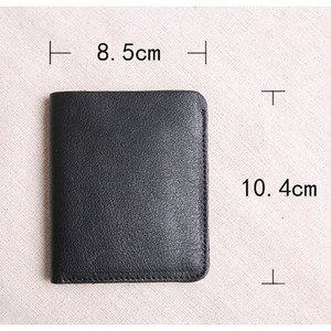Image 5 - AETOO Wallet Mens Short Leather Top Layer Leather Slim Mini Wallet womens Vertical Student Manual Wallet Soft Leather