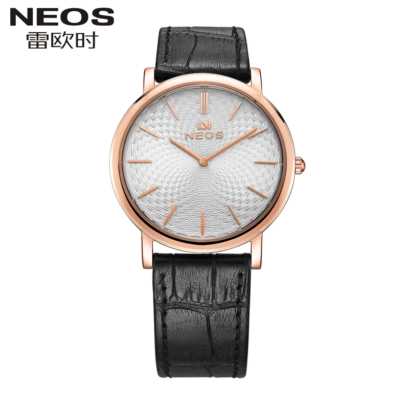 NEOS Brand Men 's Watch Ultra - Thin Simple Fashion Models Casual Waterproof Male Watch Quartz Watch Belt 2017 new foreign explosions men s alloy watch blue glass three belt watch a generation of hair