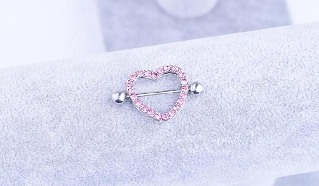 Punk Style Surgical Steel Heart Shape Nipple Ring