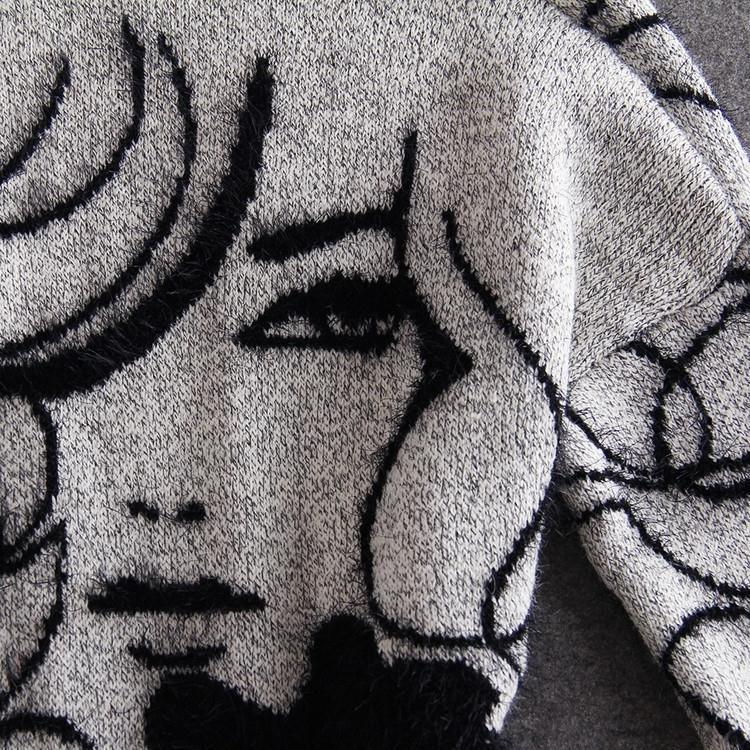 Hot sale 2018 New Autumn Knitted Sweater Cardigan Women winter Jacket Loose Big yards joker Long Sweaters coat