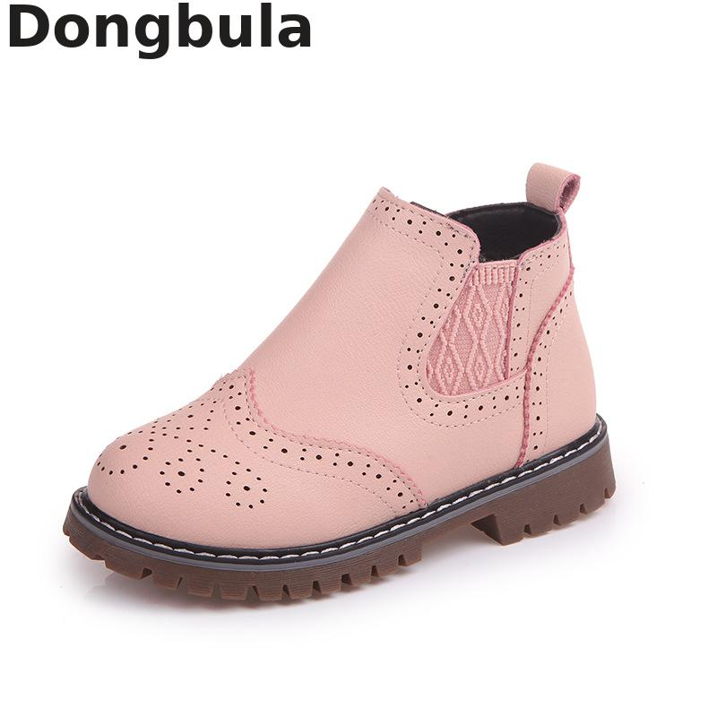 New Girls Leather Martin Boots Shoes For Girls Children Non-slip Breathable Fashion Boots Girls Baby Casual Shoes Kids Sneakers