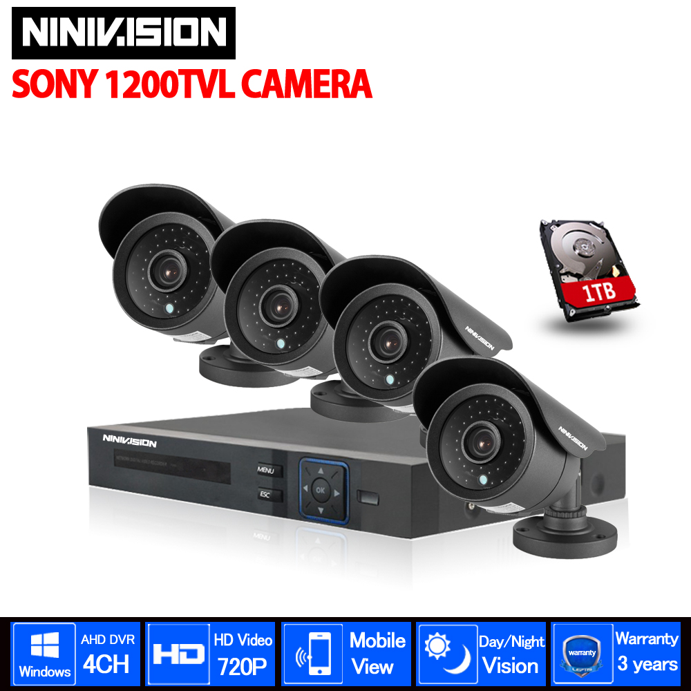 New 4CH 960H DVR Kit 700TVL Outdoor Waterproof IR Cameras Audio DVR Recorder CCTV Security Set