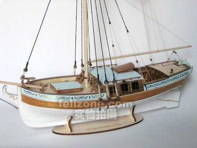 US $99 0 10% OFF|LOVE MODEL Free shipping Scale 1/24 Classic Swedish royal  yacht model kits 17th Century Yacht Sweden 1770 ship model-in Model