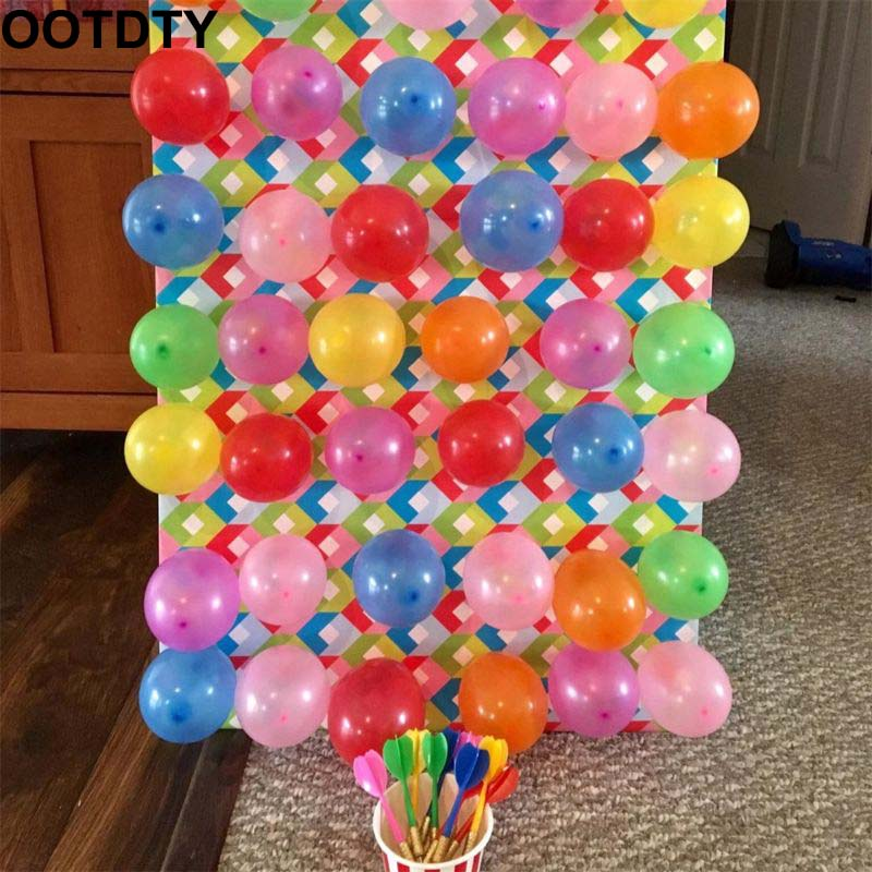 Carnival Games Darts Balloons, 500Pcs Circus Decorations Christmas Balloons With 12Pcs Darts For Carnival Party Supplies