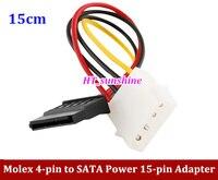 30pcs New 4 Pin IDE Molex To 15 Pin Serial ATA SATA Power Converter Adapter Cable