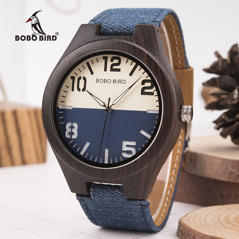 BOBO BIRD Wood Watch Men Women Lover Quartz Movement Wristwatch Causal Sport Stylish Timepiece Gift to Boy friend Girl friend Pakistan