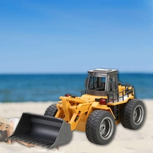 HUINA 1520 1:18 2.4GHz 6CH RC Alloy Truck Construction Vehicle toy