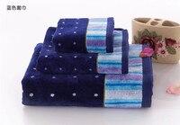 Moda dot towel ustawić 100% bawełna 3 sztuk zestaw do kąpieli + twarzy + Ręczniki Super Miękkie Para Ręczniki Tekstylne Domu Użytku domowego Wysokiej Jakości