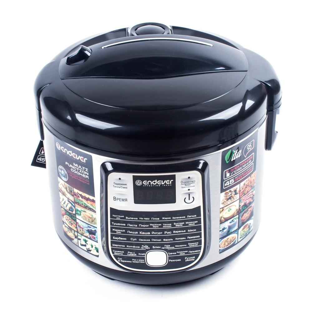 Мультиварка Endever Vita-95 (Мощность 1000 Вт, объем 5 л, 45 программ, таймер, LED-дисплей)
