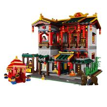 hot city creators Street view chinatown cinese night club moc building blocks diy model mini Seller figures bricks toys for gift