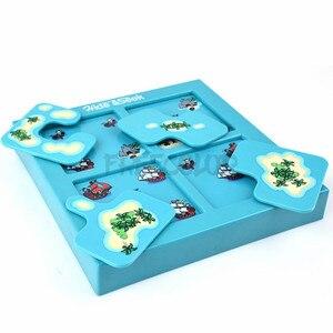 Image 3 - SUKIToy çocuk Yumuşak Montessori Erken Kafa Başlangıç Eğitim Oyuncak Hide & Seek IQ Masaüstü oyunları Ile Çözüm kitap SC002