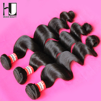 HJ 6A Peruvian Loose Wave 3 Bundles Virgin Hair Human Hair Weave Natural Color Fast Delivery Free Shipping By DHL