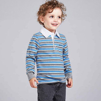 Autumn Boy Long Seelve Polo Shirt Kid Cotton Polo Shirt For Boy Children Cross Stripe Polo