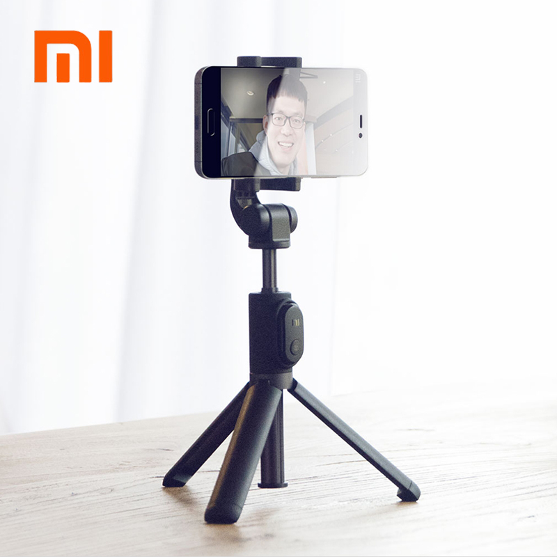 Original Xiaomi Handheld Mini Foldable Tripod 2 in 1 Monopod Selfie Stick Bluetooth Wireless Remote Shutter for Iphone & Android 3 in 1 handheld bluetooth selfie stick for iphone x 8 7 6s plus wireless remote shutter monopod portable extendable mini tripod