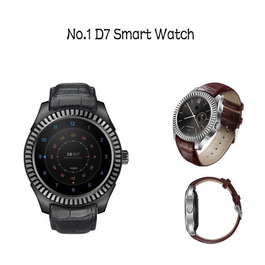 Smart Watch NO.1 D7 SIM GPS WIFI 3G 500MAH Heartbeat Monitor Bluetooth 4.0 Smart Wearable Bracelet For Android 4.4 Smartphone