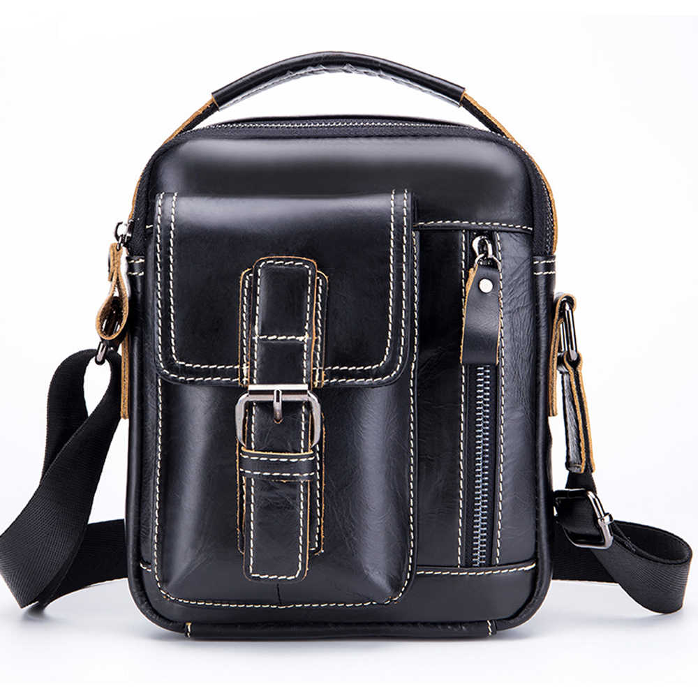 ada7ffb40f Detail Feedback Questions about New! Fashion Retro Design Cow Leather Men s  Messenger Bag Leisure Travel Work Leather 8 Inches Male Shoulder Bags  Crossbody ...