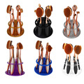 6pcs Toothbrush Makeup Brush Holder Mutil-color Makeup Brush Showing Rack Makeup Brush Drying Display Stand Storage New