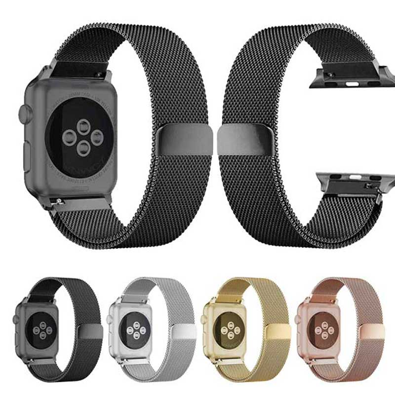 Steel Watch strap For Apple Watch Band Strap 42 44 38 40mm Milanese Loop  With Protective Case Watchband For iWatch Series 4 3 2| | - AliExpress