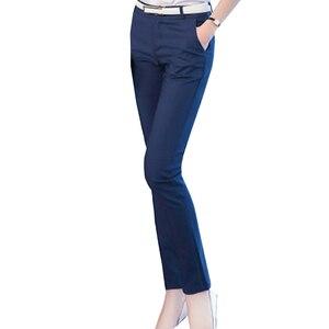 Image 3 - 여성 연필 바지 2019 가을 높은 허리 숙녀 사무실 바지 캐주얼 여성 슬림 Bodycon 바지 탄성 Pantalones Mujer