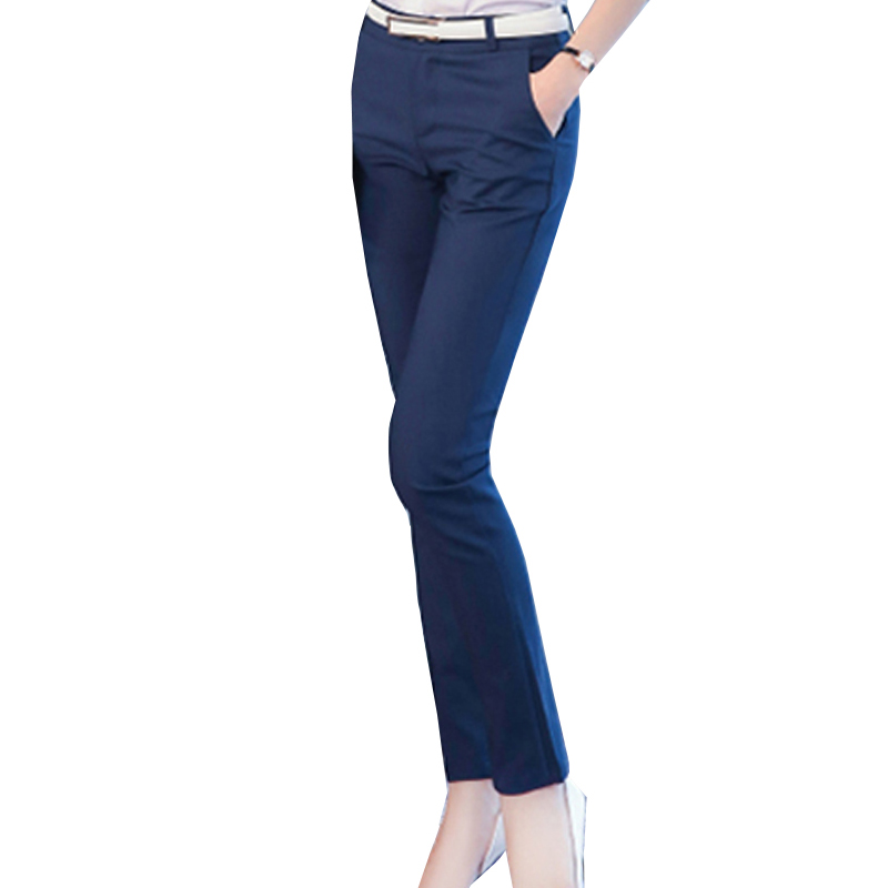Women Pencil Pants 2019 Autumn High Waist Ladies Office Trousers Casual Female Slim Bodycon Pants Elastic Pantalones Mujer 10