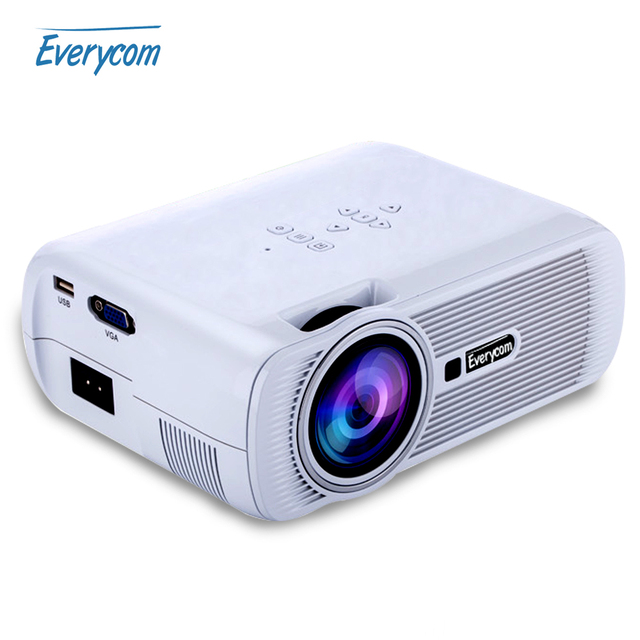 2016 HOT Everycom X7 Mini Video Projector FULL HD 1080p Home Theater led TV Beamer mini portable lcd Proyector