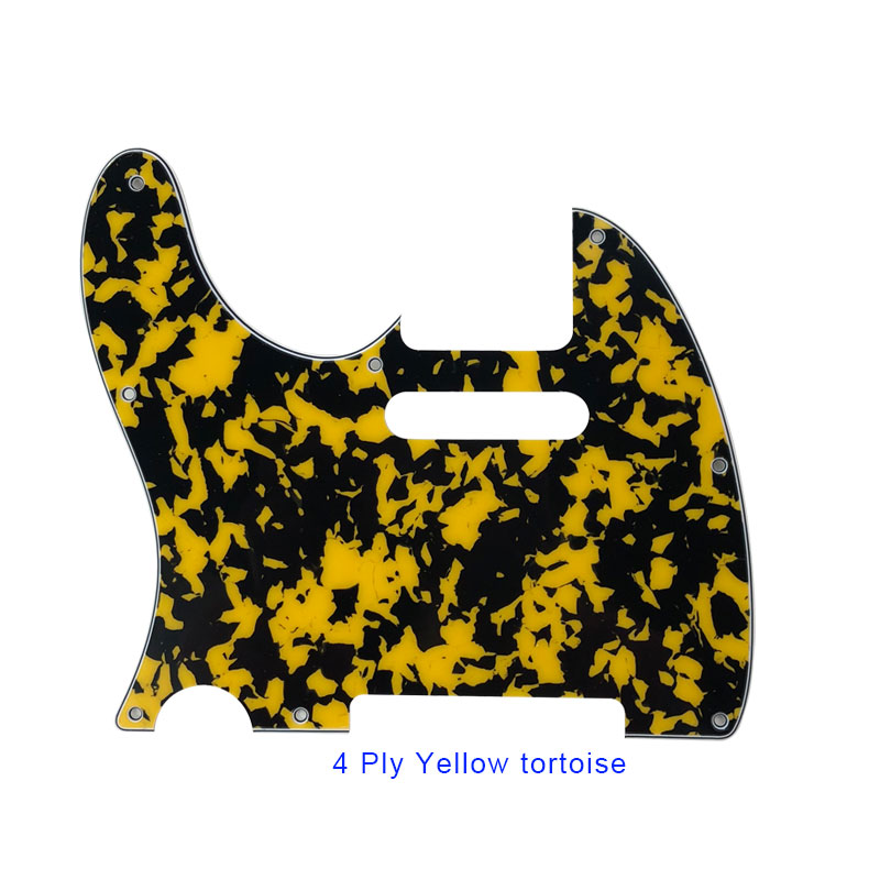 4 ply yellow tortoise telecaster pickguard