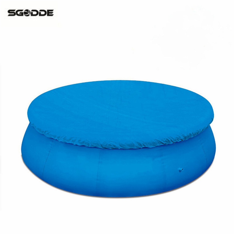 Blue round swimming pool cover roller fit 8 10 12 feet for Garden pool accessories