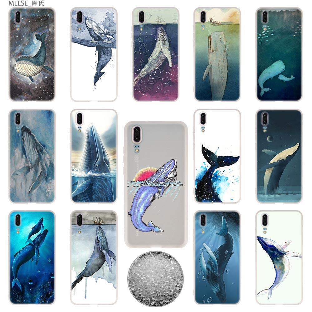 Tpu Cover Telefoon Gevallen Zachte Voor Huawei P 20 Pro P10 Plus P9 P8 Lite 2017 P30 Pro Samrt 2019 Nova 3e Aquarel Walvis