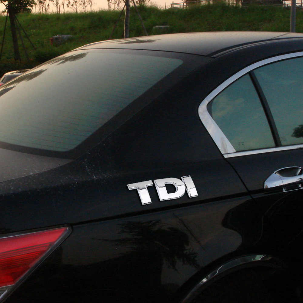 Tem Dán Xe Hơi Turbo Trực Tiếp 3D Kim Loại Phản Quang Quốc Huy Huy Hiệu TDi Logo Decal Cho VW Golf Jetta Passat MK4 MK5 MK6