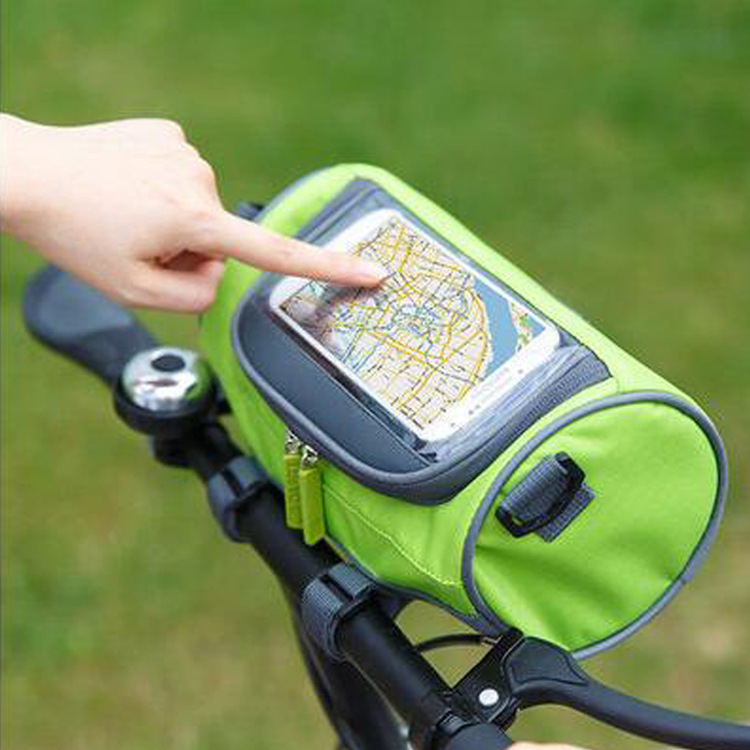 The new bicycle handlebar bag car head touch screen mobile phone bag mountain bike riding bicycle accessories bag hot