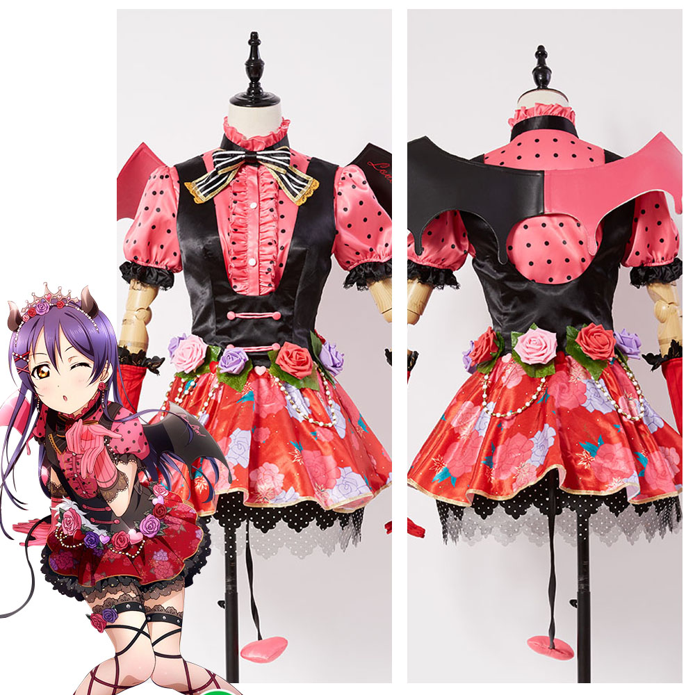 Lovelive Love Live! New UR Umi Sonoda Little Devil Demon Transformed Cosplay Costume Uniform Halloween Costumes