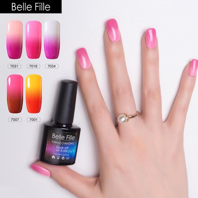 Changing color Temperature Thermo Gel nail polish 10ml Magical UV ...