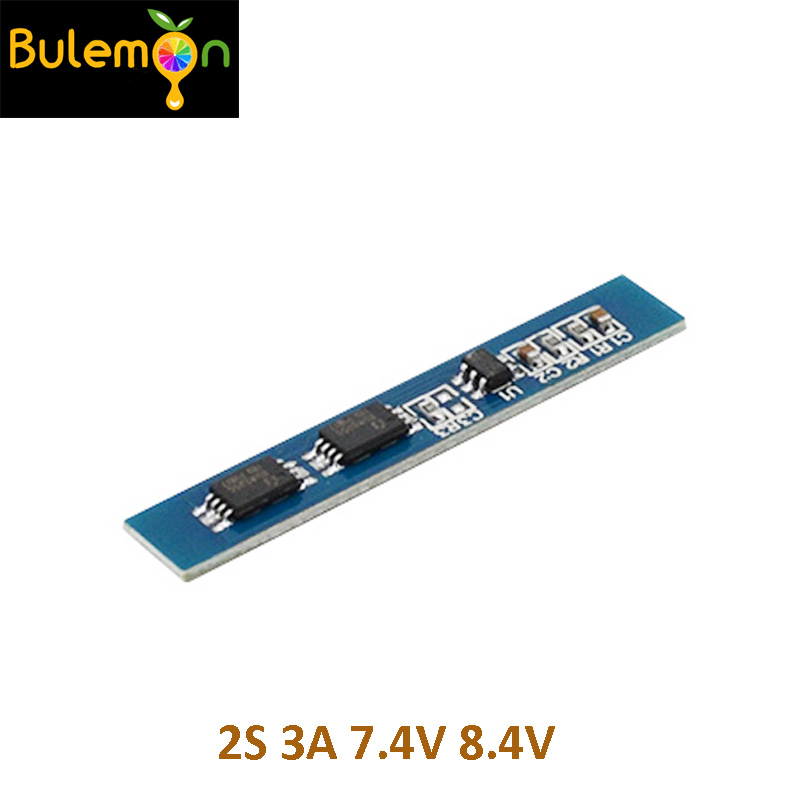 10pcs/lot 2S 3A Li-ion Lithium Battery 7.4 8.4V 18650 Charger Protection Board BMS PCM For Li-ion Lipo Battery Cell Pack
