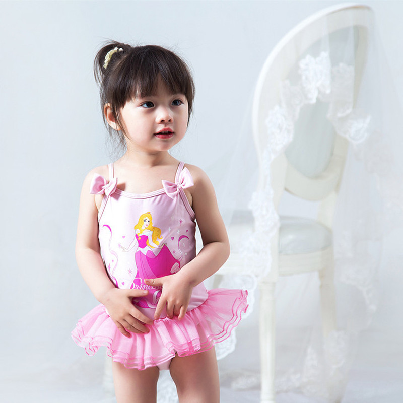 Summer Gril /Baby Swimwear Sleeping Beauty Princess swimwear One Piece Bubble Skirt Dress Kids Beachwear Surfing Swimming Suits