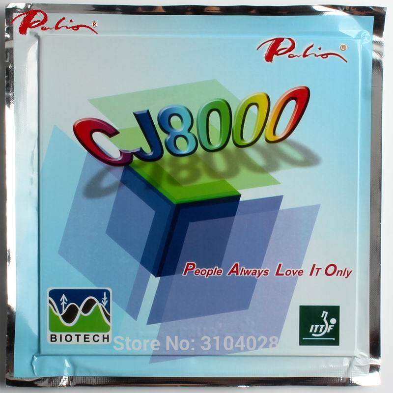 Palio rasmi jangka panjang CJ8000 42-44 ping pong getah BIOTECH technilogy cepat serangan loop sedikit sticky table tennis racket