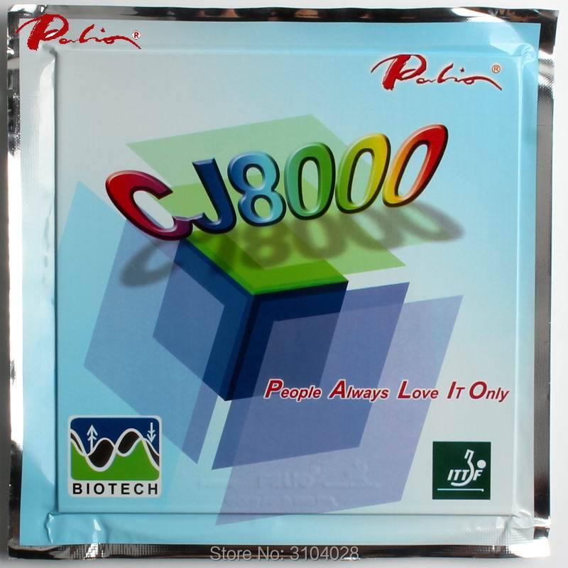 Palio הרשמי לטווח ארוך CJ8000 42-44 טניס שולחן גומי BIOTECH technilogy מהיר לתקוף לולאה מעט דביק טניס שולחן מחבט