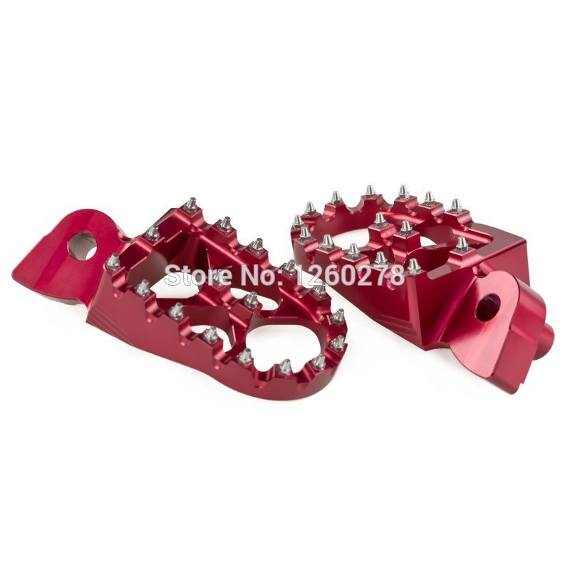 For GasGas EC 1997 2015 all models Foot pegs Foot Pegs Wide Fat 57mm Anodized Red