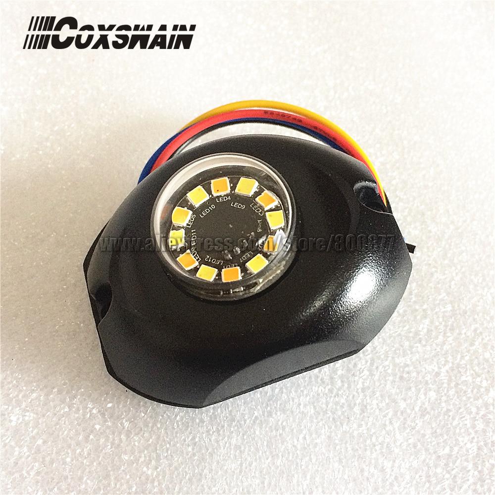 G12 DUAL COLOR LED Hide away warning light , 12*3W LED, 35 flash, LED surface mount light, Car Truck Side Strobe Headlight