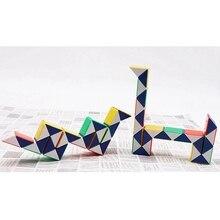 Hot Colorful 3D Magic Ruler Cube 24 Segments cubo magico Snake Twist Cube Puzzle Kid Educational Toys for Children недорго, оригинальная цена