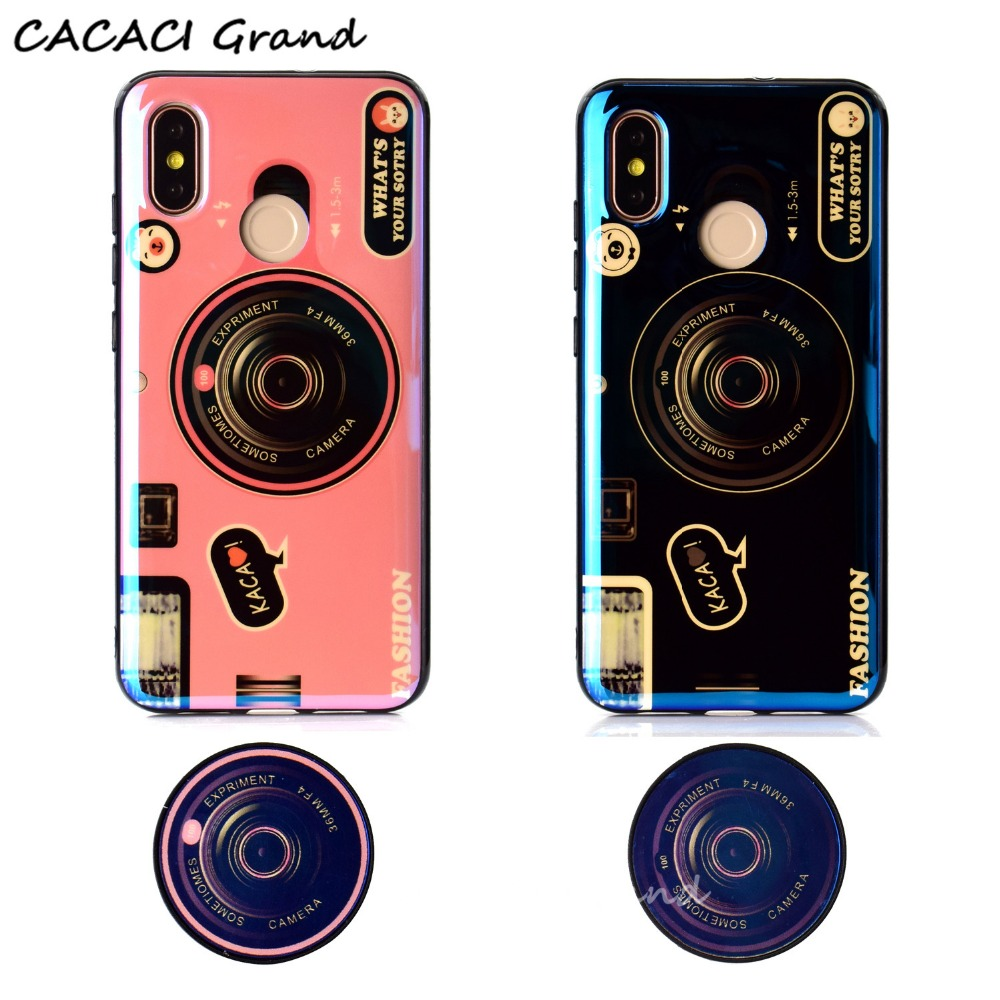 for xiaomi mi a2 lite case vintage 3D camera soft silicon tpu cover for xiaomi redmi 5 plus s2 6a 6 pro note 4 4x 5a phone stand in Fitted Cases from Cellphones Telecommunications